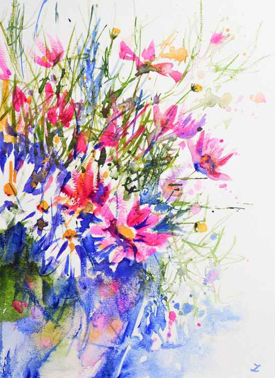 Cosmos Flowers in the Vase -