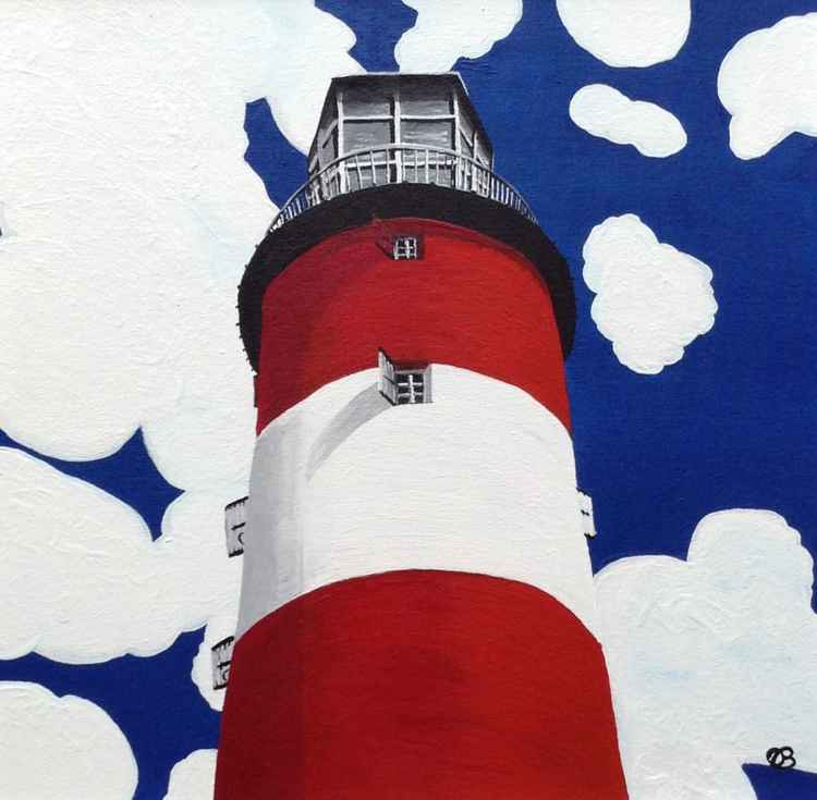 Plymouth Lighthouse Large Limited Edition Print