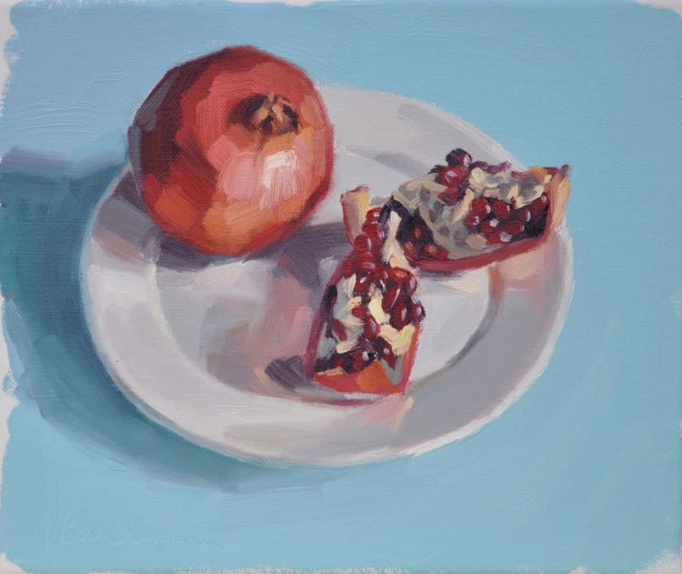 Pomegranates in a plate - Image 0
