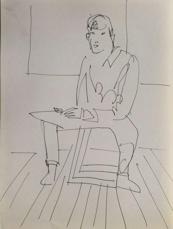 Self-portrais, Passage Charles-Albert, #9 24x32 cm - Image 0