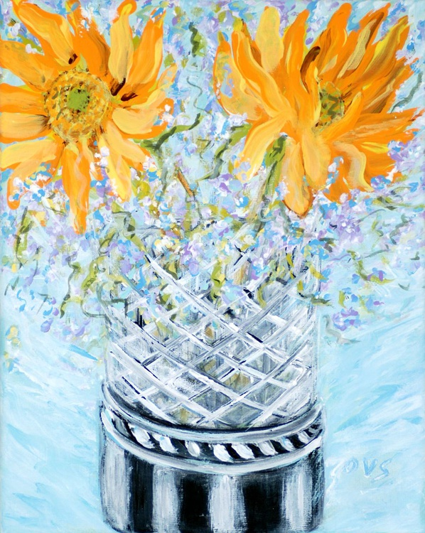 Sunflowers in a Vase - Image 0