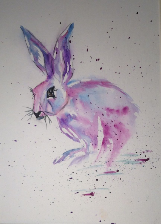 """Scarlet O'Hare, 11 X 15 inch watercolour mounted ready to frame - Image 0"