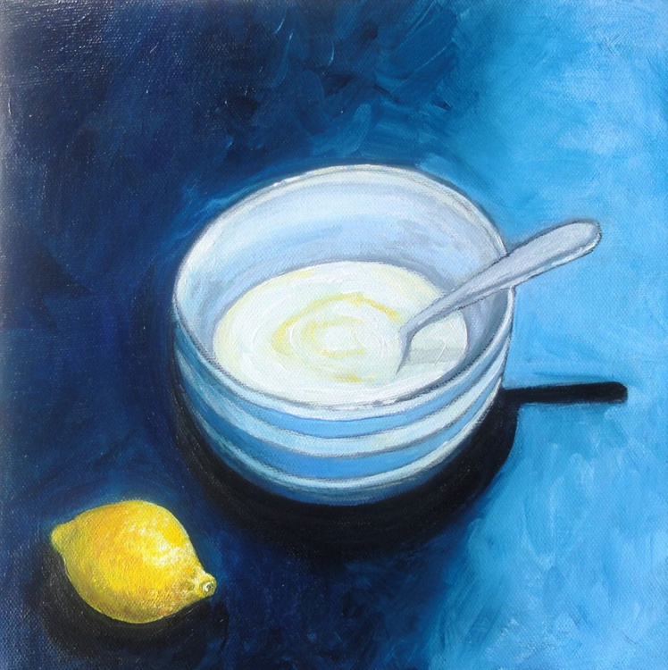 Yogurt and Lemon Still Life (Yogurt Culture Art Project) - Image 0