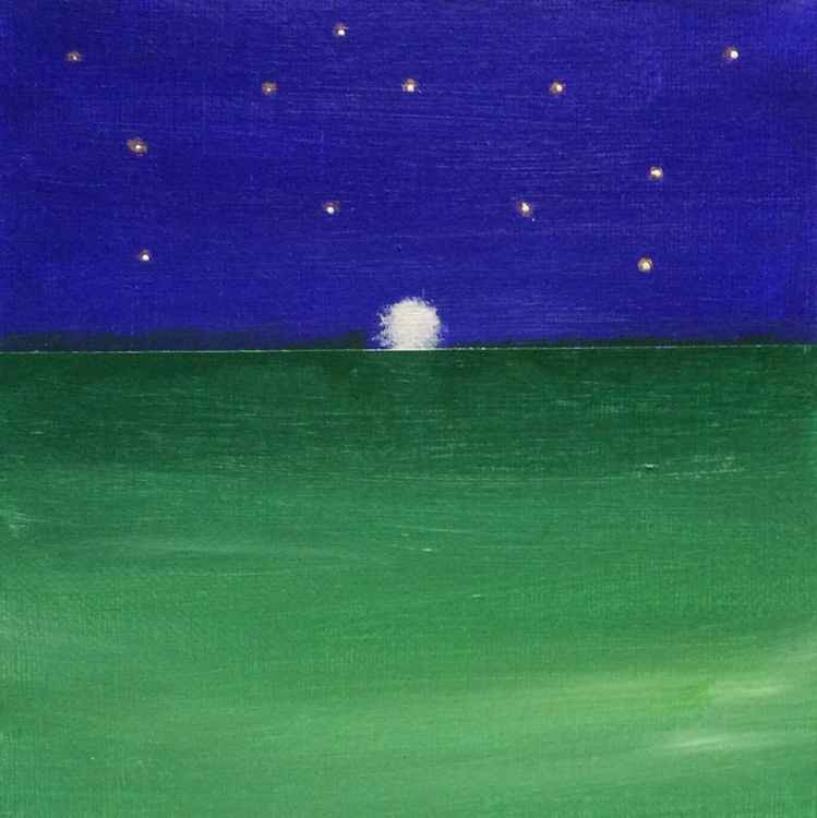 """"""" sinking moon """" ( miniature size )"""