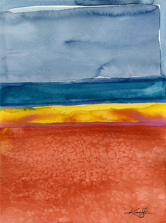 Finding Harmony 5 - Abstract Watercolor Painting - Image 0