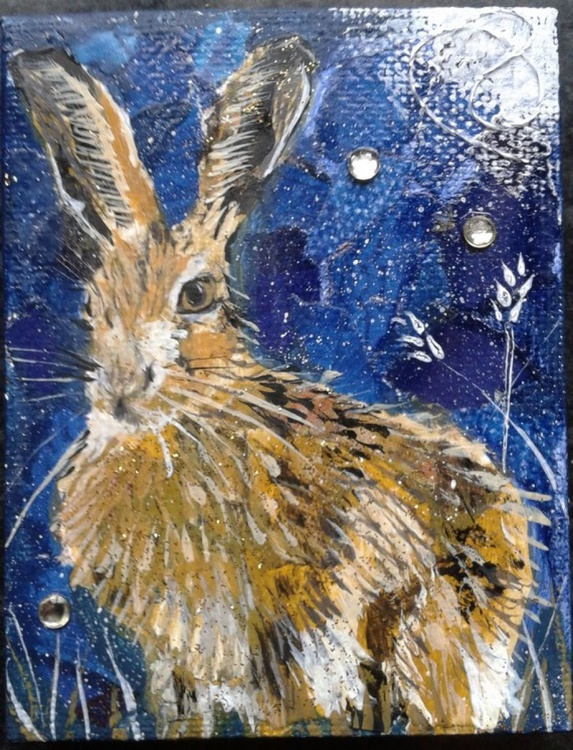 Hare and night sky - Image 0