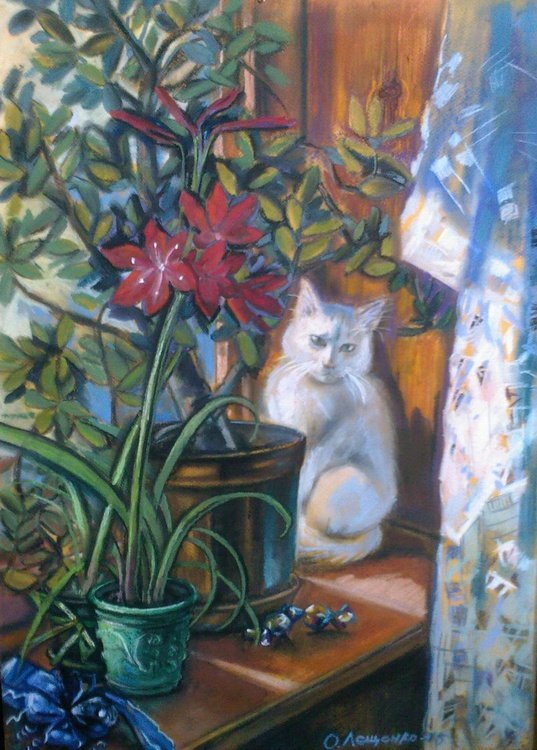 Amarilis and cat - Image 0