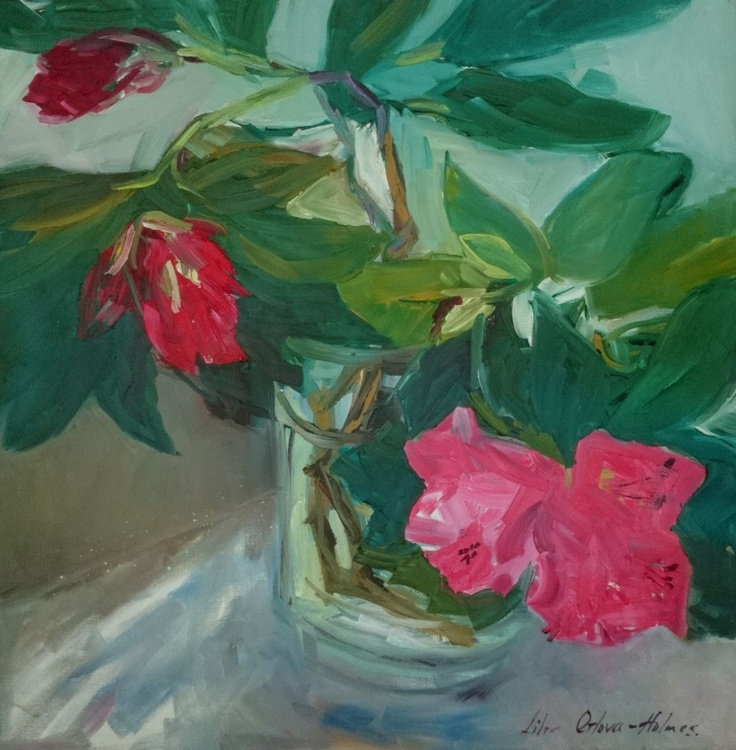 Still life with rhododendron. - Image 0
