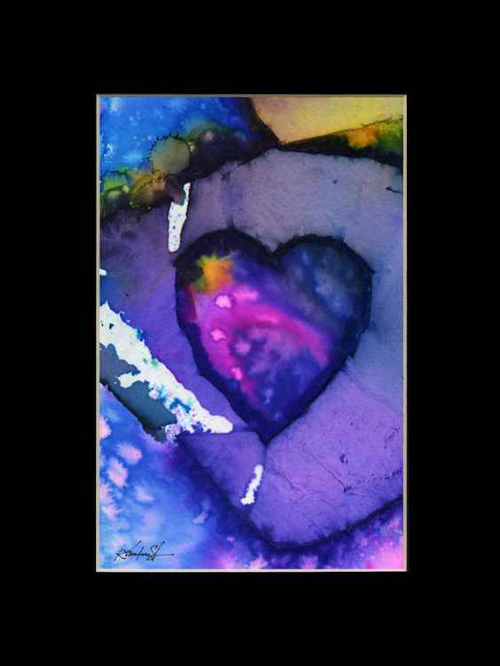 Heart Watercolor Painting, Abstract - Eternal heart No. 18 -