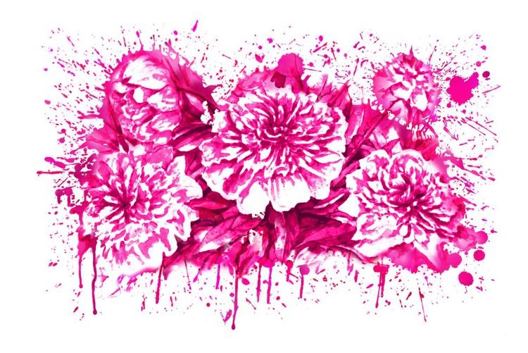 Flowers Splash Pink - Image 0