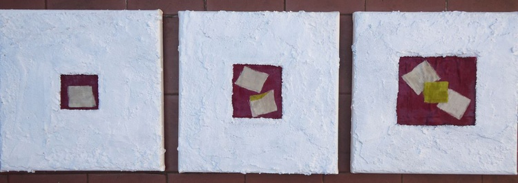 SET OF 3 SMALL PAINTINGS (3) - Image 0