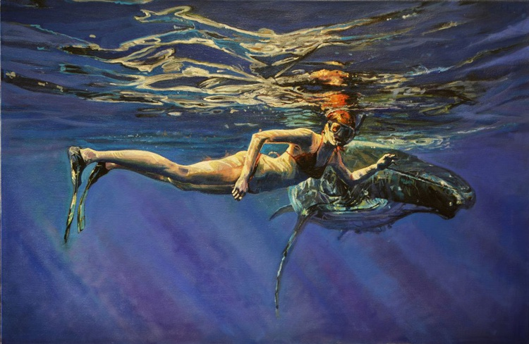 The girl and the whale - Image 0