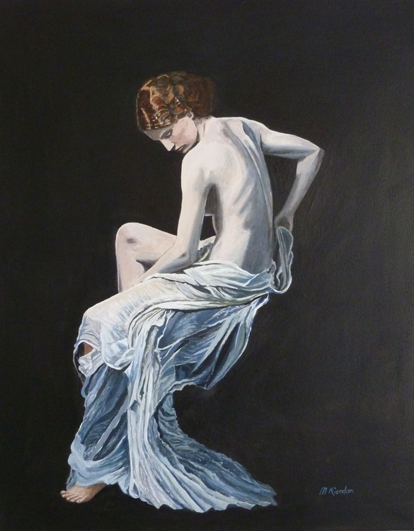 Nude in sheer white wrap - Image 0