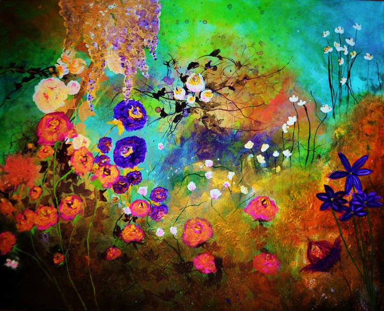 """Abstract floral """"The beauty of silence"""" - Image 0"""