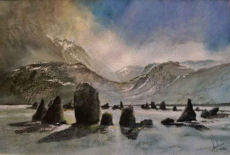 Castlerigg Stone Circle, Cumbria - Original Watercolour Painting