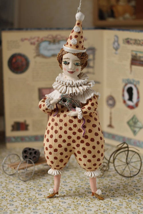 Pierrot with a mask II, wall object by Elya Yalonetski - Image 0