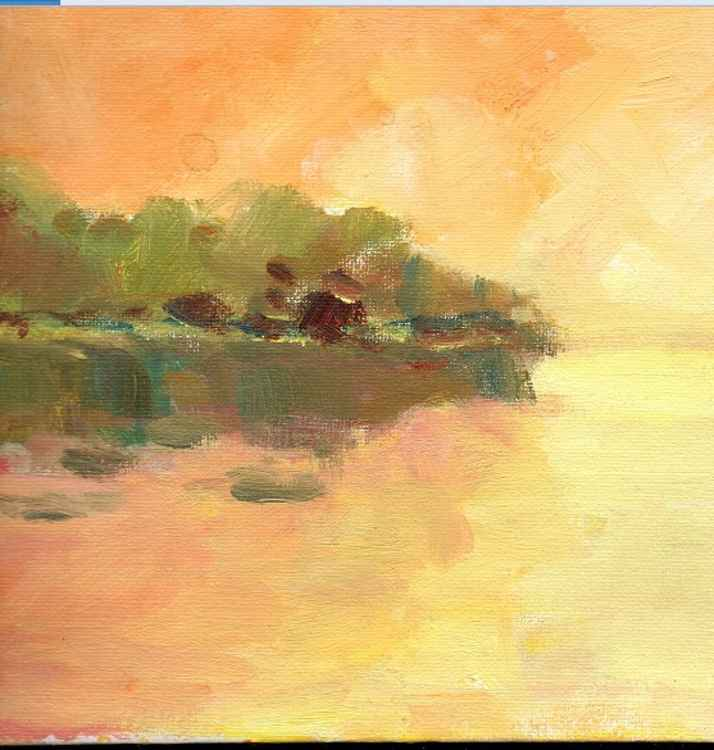 orange dusk (detail ) 8 inches x 6 inches -