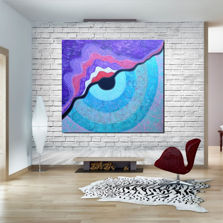 New Vision. Large Abstract Painting. Free Shipping - Image 0