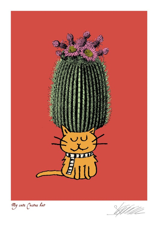 My cats Cactus Hat - Image 0