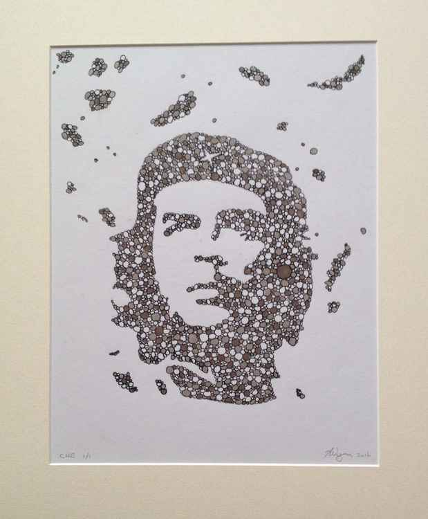 Che abstract in ink.