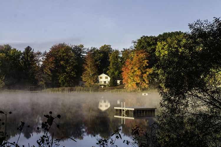 Fall Morning at Acker Lake -
