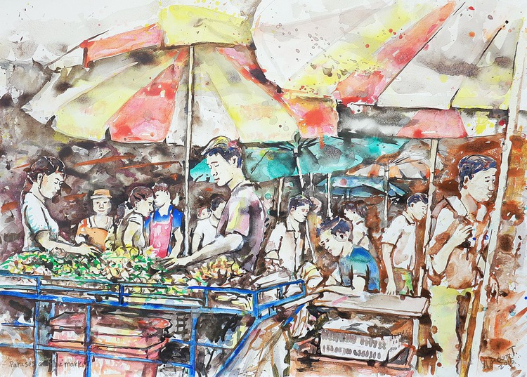 parasols and the market - Image 0