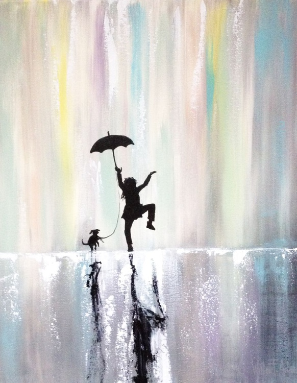 """Commission- """"Dancing in the Rain with my Best Friend"""" - Image 0"""