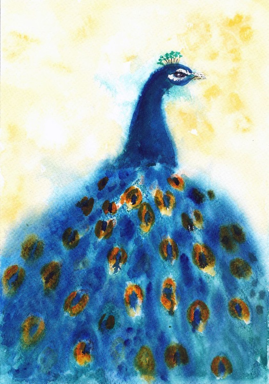 """Flaunt it if you have it-like a proud peacock 7""""x 10"""" - Image 0"""