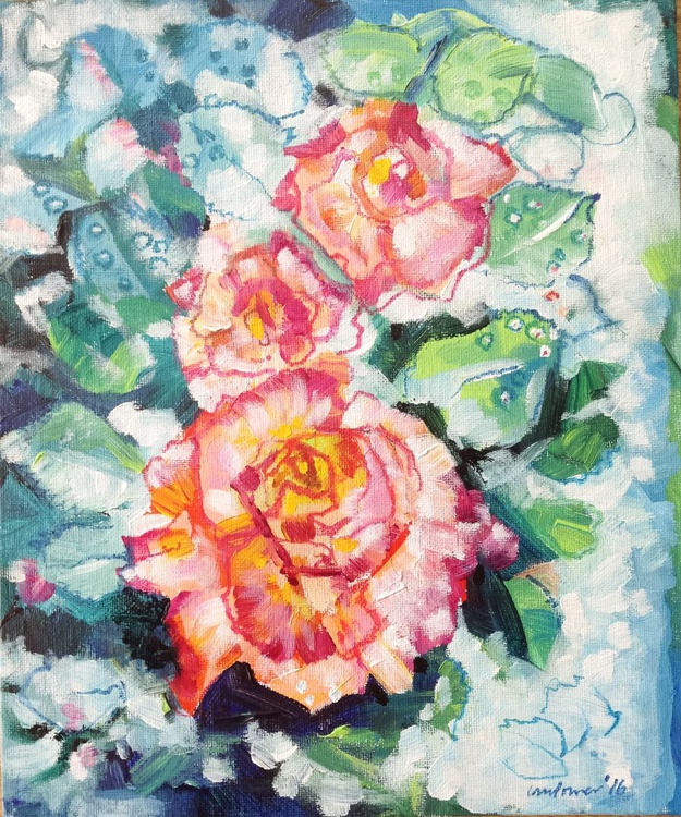 Roses and Dew - abstract - Image 0