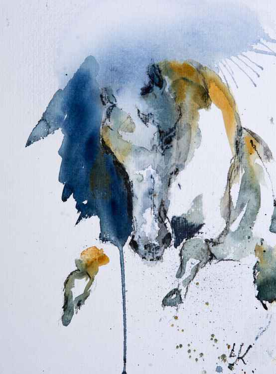 """Tameless"", original watercolour painting, 9.4""x12.6"" (24x32 cm) -"