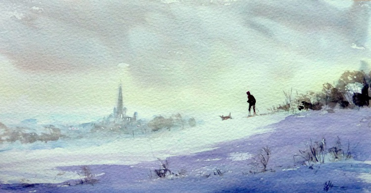 Following a Local Dog in Snow - Image 0
