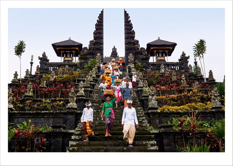 Villagers at the Besakih temple, Bali. - Image 0