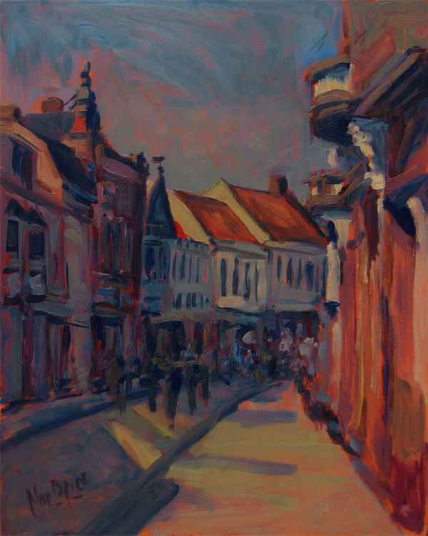 Warm Autumn Light In The Nieuwlandstraat -