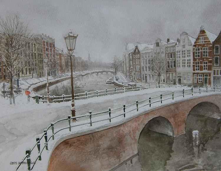 Bridge Leidsegracht Keizersgracht, Amsterdam. -