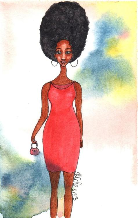 'Shopping Day' Original Watercolour Painting - Image 0