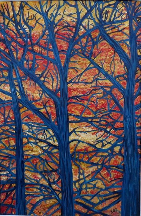 Orange Sky Blue Tree - Image 0