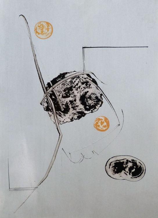 Introspectus #11 , Acrylic on paper 29x41 cm - Image 0
