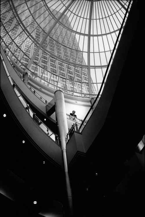 Inside the Rotunda, One Canada Square, Canary Wharf -