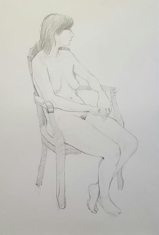 Jen, Seated (Life Drawing Study) - Image 0