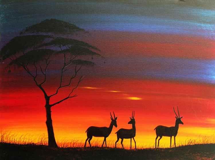 Antelope masai mara -