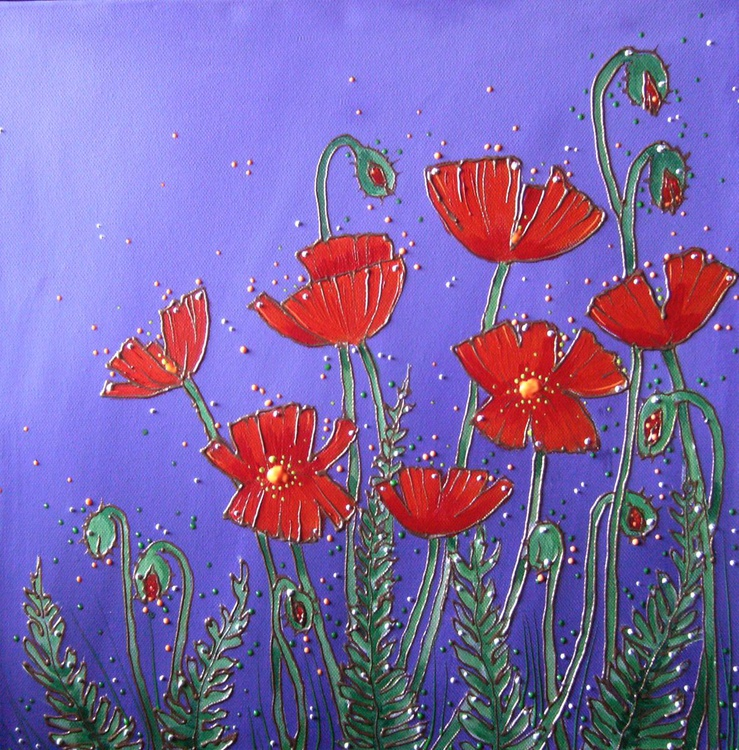 Poppies bejewelled - Image 0