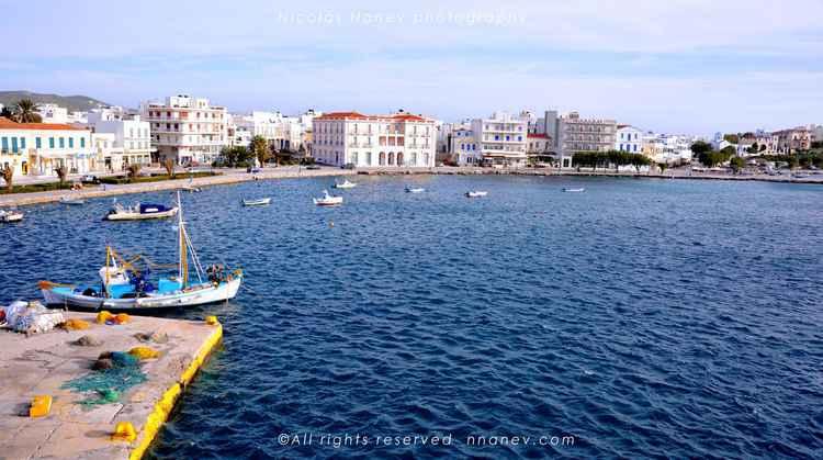 boat dock island Tinos