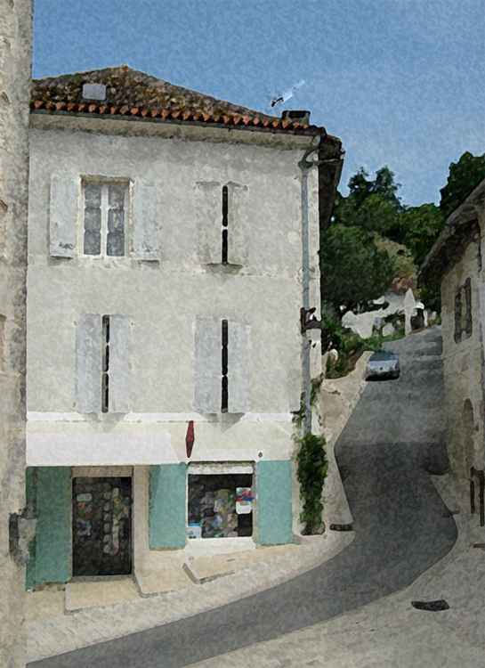 Road In Aubeterre -