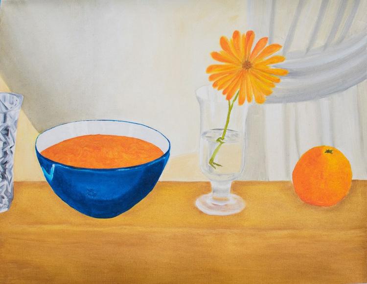 Orange - fruit, flower and yogurt - Image 0