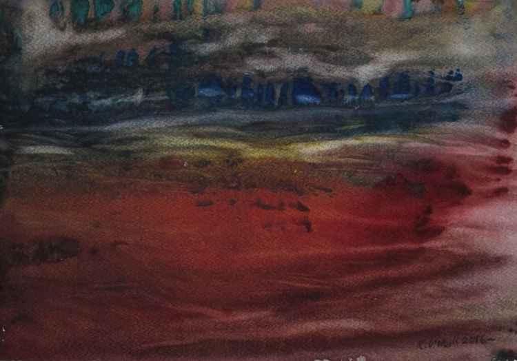 Red landscape -