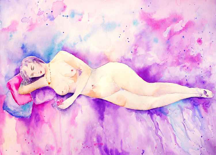 Abstract Sleeping Beauty Female Model -