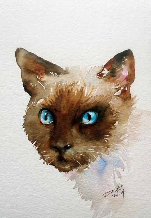 Attitude_Siamese Cat Portrait - Image 0