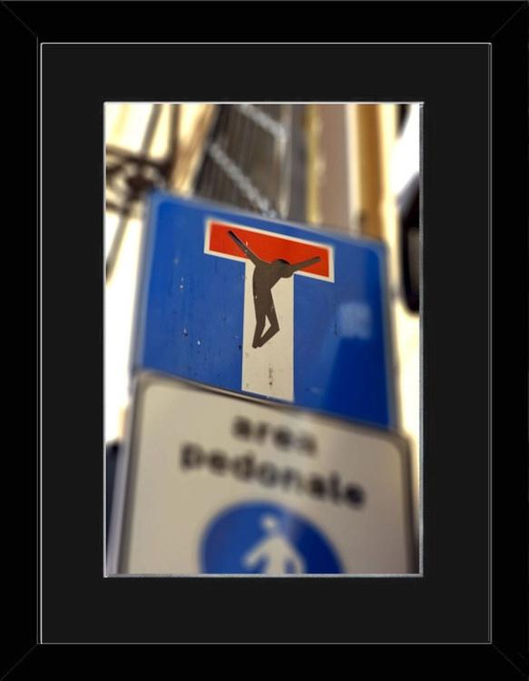 Cross Sign - Florence - Framed - Image 0