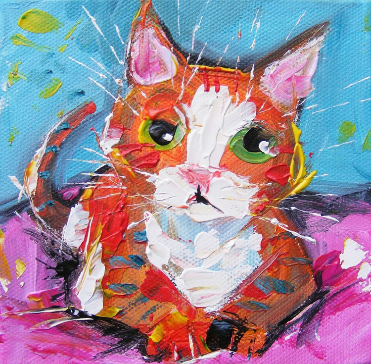 "Cat Painting - ""Nope, definitely MY bed!"" - Image 0"