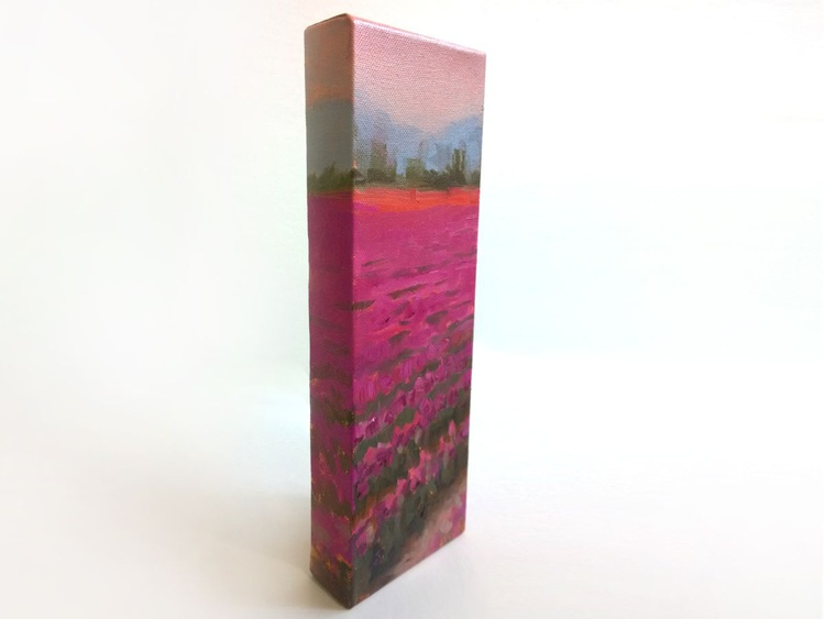Misty Tulips - Unique Flower Landscape - Image 0